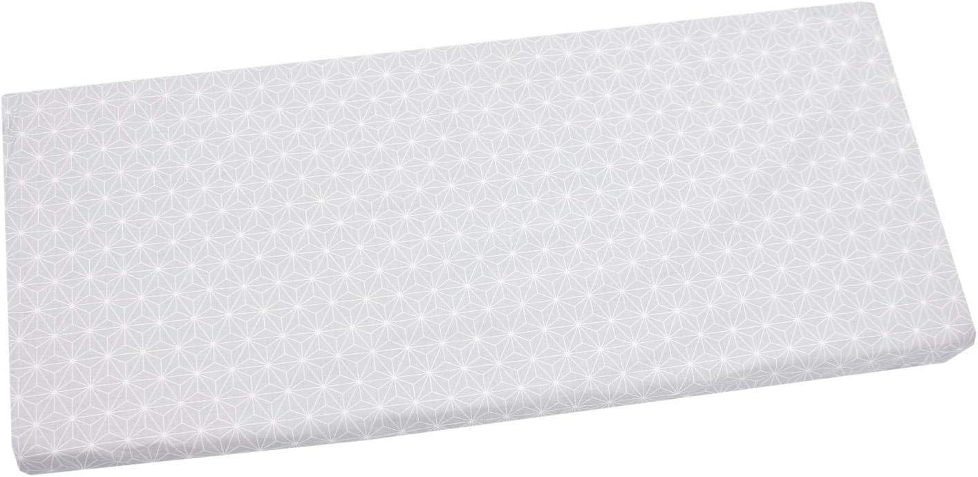 TupTam Drap Housse de Lit et Berceau avec Motifs pour B/éb/é Gris 70 x 140 cm