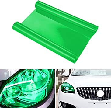 Aumo-mate DIY 12 by 48 Inches Auto Car Self Adhesive Sticker for Fog Light Headlight Taillight Film Sheet Car Modification Gold