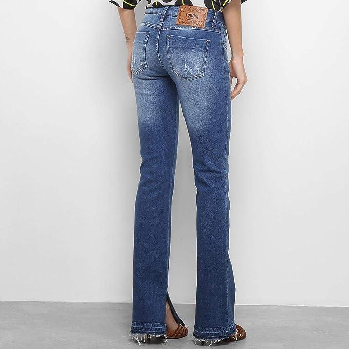 e22fe8555 Calça Jeans Flare Forum Veronica Cintura Média Feminina - Jeans - 42 ...