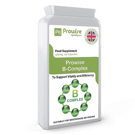 Complejo Prowise de la vitamina B - 120 cápsulas - Fabricado a la calidad garantizada GMP