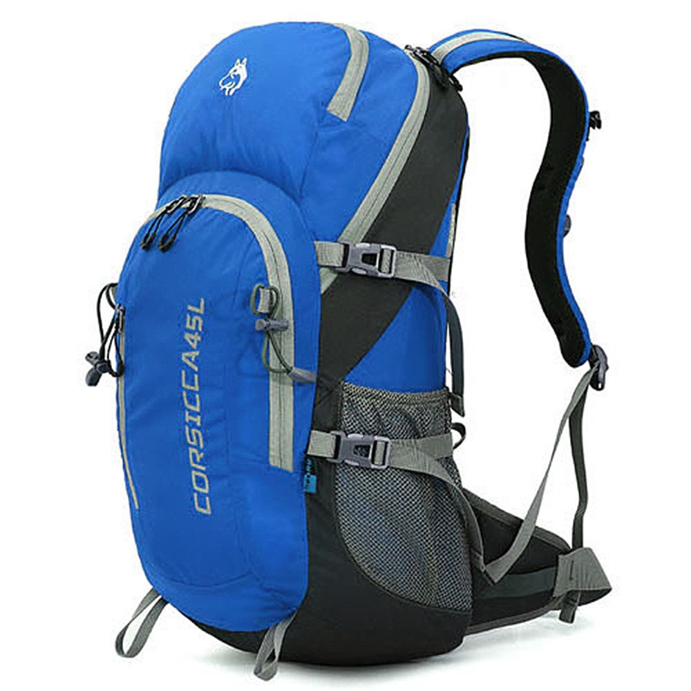 zxcvlinaバックパック大容量防水ワイルドで旅行キャンプウォーキングレジャースポーツNeutralメンズとレディースアウトドアの使用に最適 ブルー zxcvlina B07F1Z85Y9 ブルー