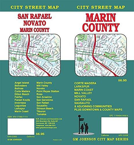 - Marin County / San Rafael / Novato / Sausalito / Mill Valley, California Street Map