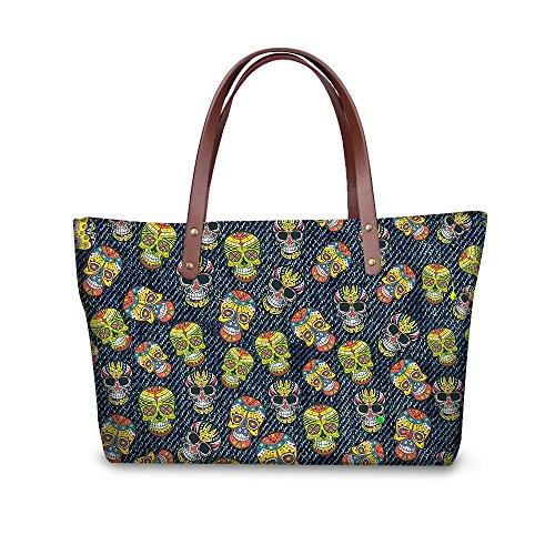 Women Top Wallets Foldable Satchel Bags Purse W8ccc1948al Handle Handbags Stylish FancyPrint pRnqFF