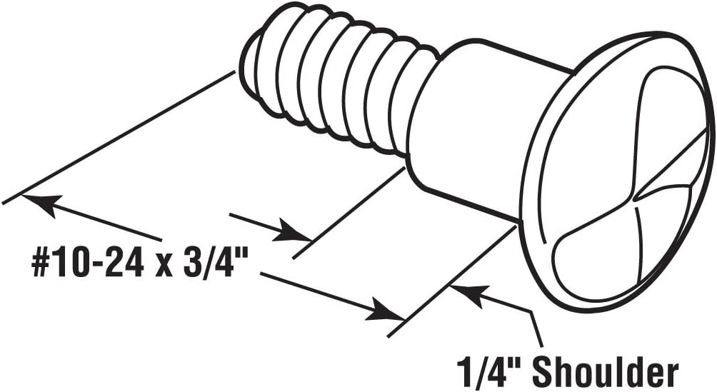 Sentry Supply 651-0508 One-Way Shoulder Screws Steel Construction Pack of 100 10-24 x 3//4 Inch Chrome Plated