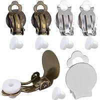 Pendientes Clip Componentes,20 Piezas Bandejas Bisel de Pendientes