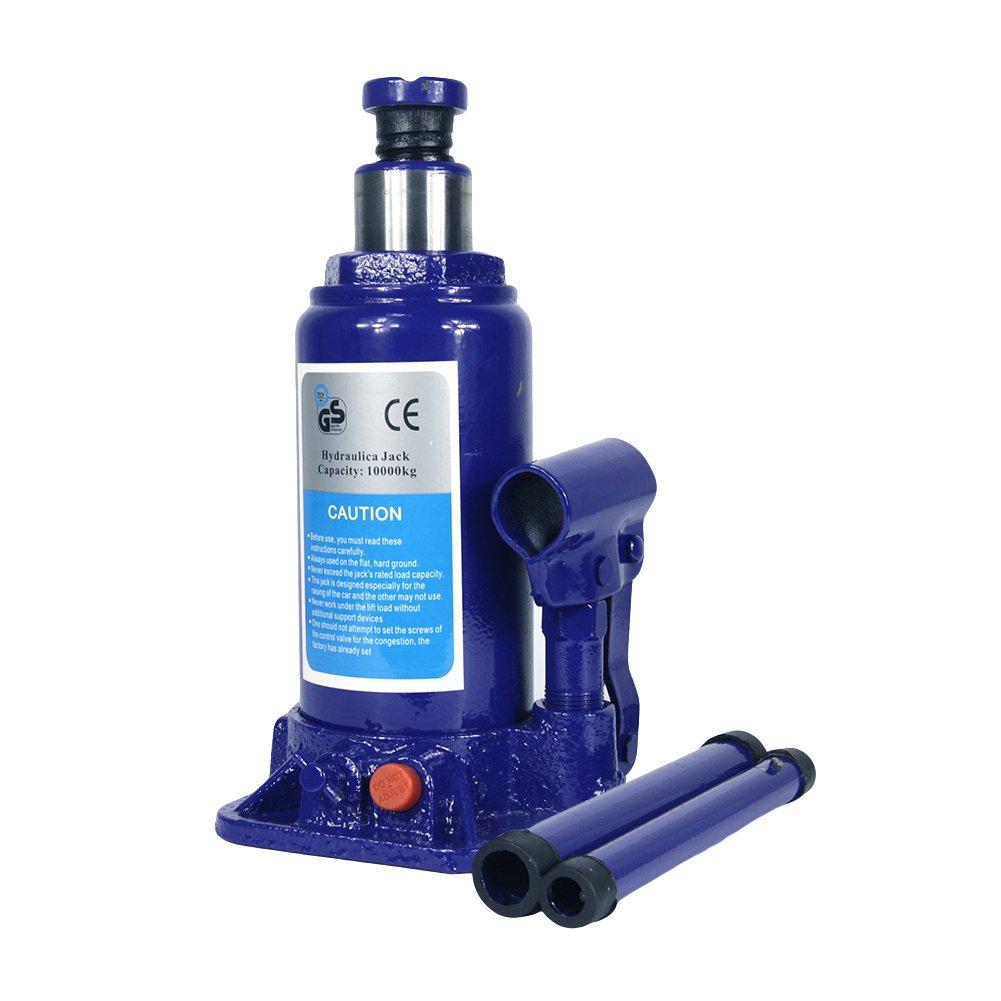 10 Ton Hydraulic Bottle Jack With Safety Valve Blue Car Jack - 10 Ton Capacity / ZBN