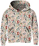 Baby Girl Gold Sweaters Hooded 3D Floral Printed Lovely Red Flower Beige Sports Jacket for 7T 8T Little Kids Girls Long Sleeve Big Pockets Casual Home School Comfy Shirts Blouse Christmas Sweatshirts