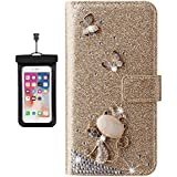Flip Case for iPhone 7 Plus Shockproof Ultra Thin Protective Cover, Design Cell Mobile Phone Case with Free Waterproof Case