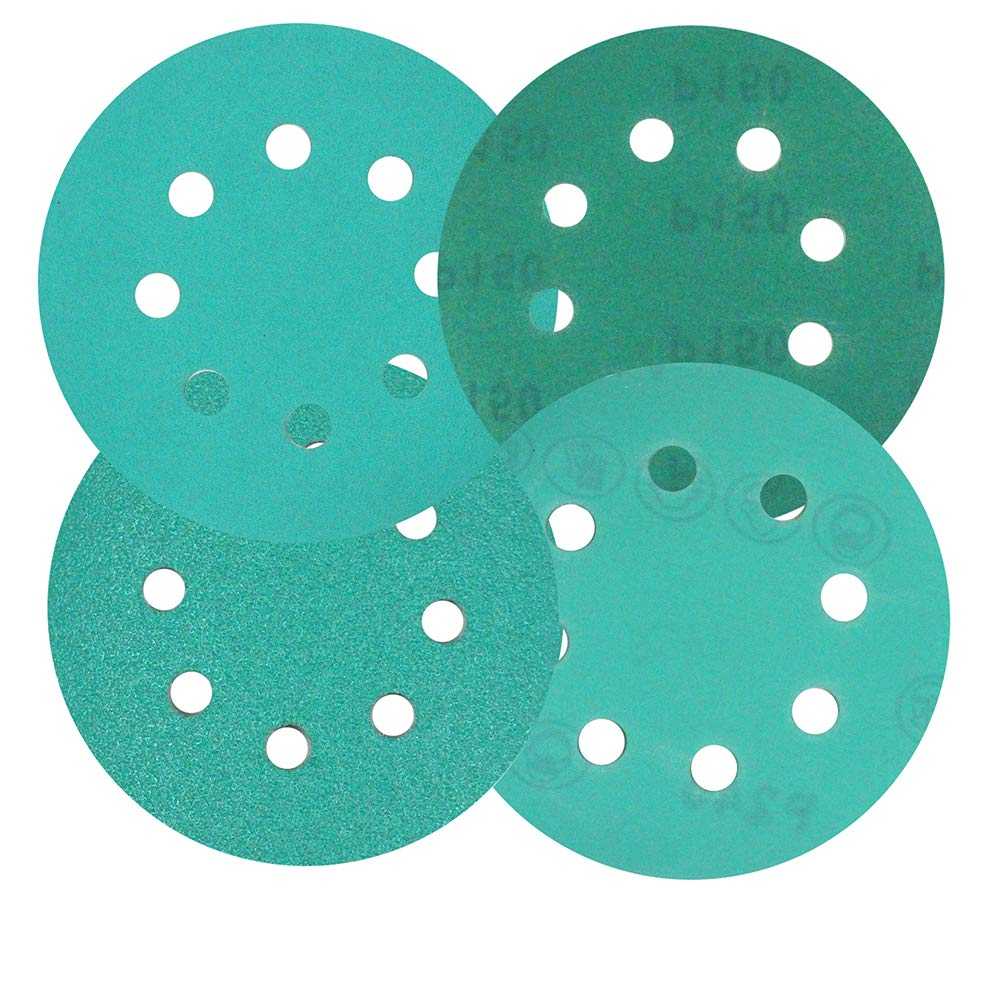 MAXMAN 5-Inch 8-Hole Sanding Discs,240 Grit Dustless Hook /& Loop Film Wet//Dry Sandpaper for Random Orbital Sanders,20 Pcs