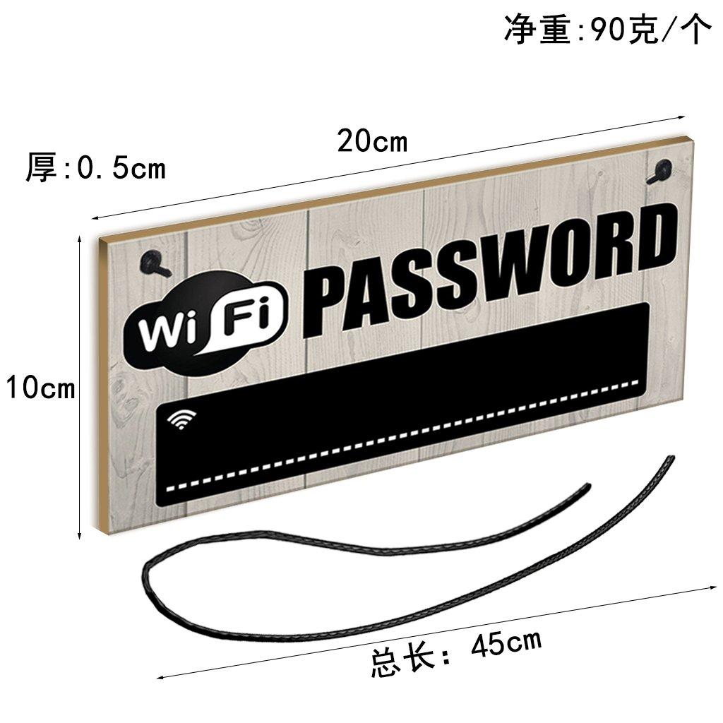 PETSOLA Tableau Accrochant De Plaque De Mot De Passe De WiFi pour La Barre 20x10cm Dh/ôtel De Caf/é De Bureau