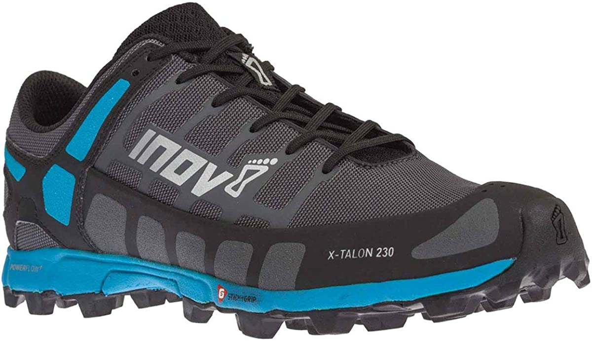 INOV-8 Mens X-Talon 230 – Lightweight OCR Trail Running Shoes – for Spartan, Obstacle Races and Mud Run – Grey Blue 13 M US
