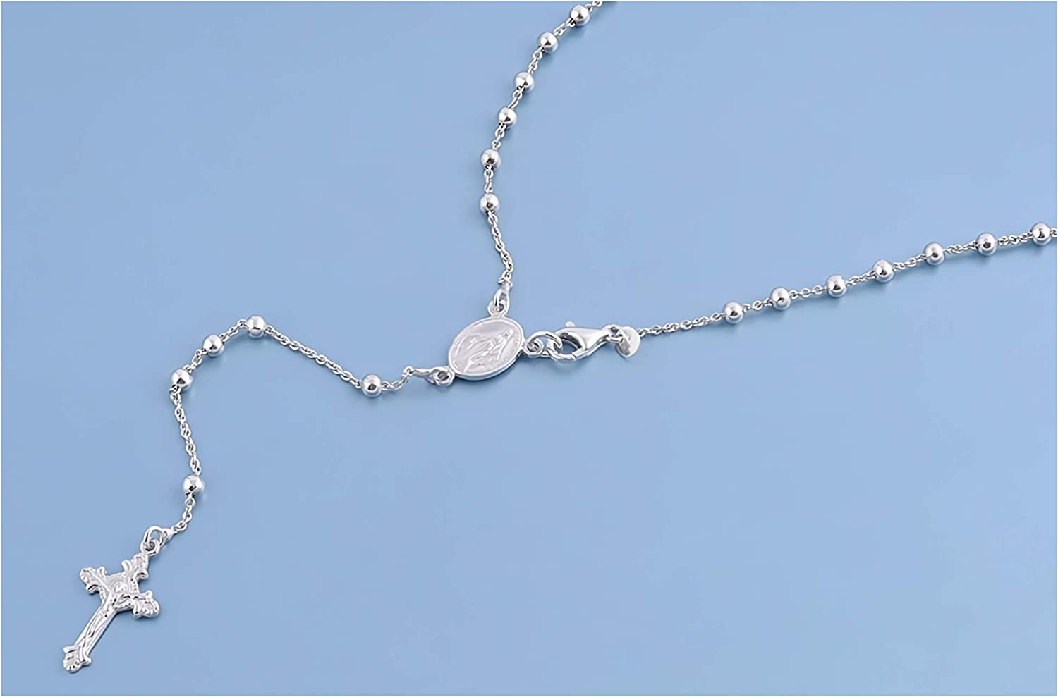 Glitzs Jewels 925 Sterling Silver Necklace Italian Chain, Curb 180 Jewelry Gift for Women and Girls