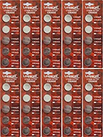 CR2032 Lithium 3V Batteries, 5 on a card (10 Cards - 50 Batteries)