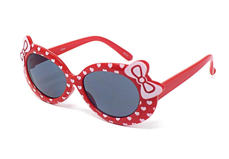 4 couleur rouge enfant enfants filles élégant style design mignon lunettes de soleil de haute qualité avec un arc et le cœur de style UV400 lunettes de soleil nuances UVA UVB protection
