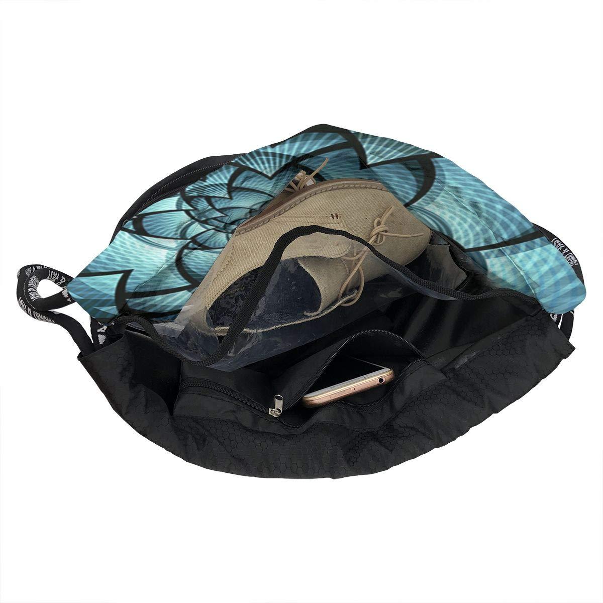 HUOPR5Q Abstract-Shapes Drawstring Backpack Sport Gym Sack Shoulder Bulk Bag Dance Bag for School Travel
