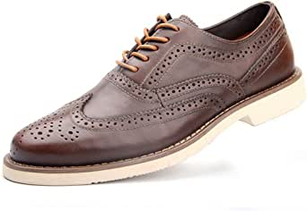 Oxford Business Schoenen Heren Lace Up Smart Derby Schoenen Breed Fit Bruiloft Office Flat Zwart Bruin Groot Maat 5-11 UK (38-46), Bruin-7 UK