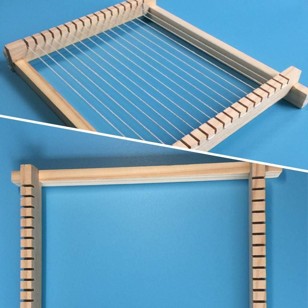 Webrahmen Kit Holz Handgewebte Strickmaschine f/ür Anf/änger und Kinder DIY Multi Craft P/ädagogisches Spielzeug