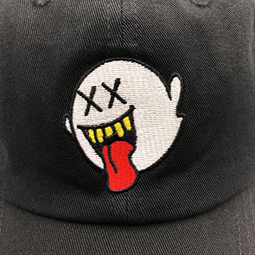 fa327b68eac zhidan wei Distressed Boo Mario Ghost Baseball Cap 3D Embroidery Dad Hats  Adjustable Snapback Black