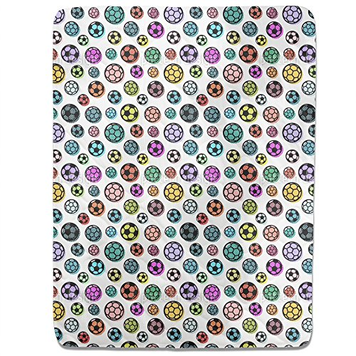 Pop Art Soccer Balls Fitted Sheet: King Luxury Microfiber, Soft, Breathable by uneekee
