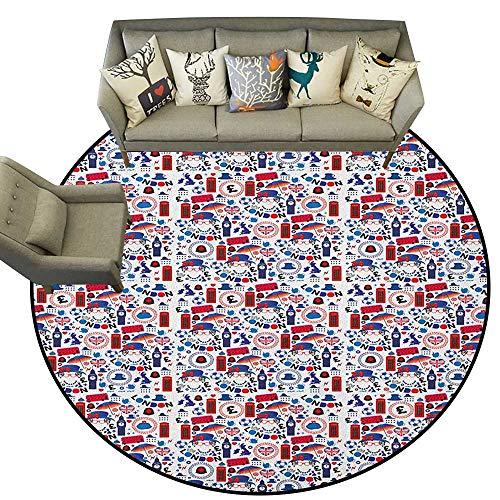 London,Personalized Floor mats Pattern with London Symbols Queen Elizabeth Umbrella Tea Party Map Travel Theme D40 Floor Mat Entrance Doormat