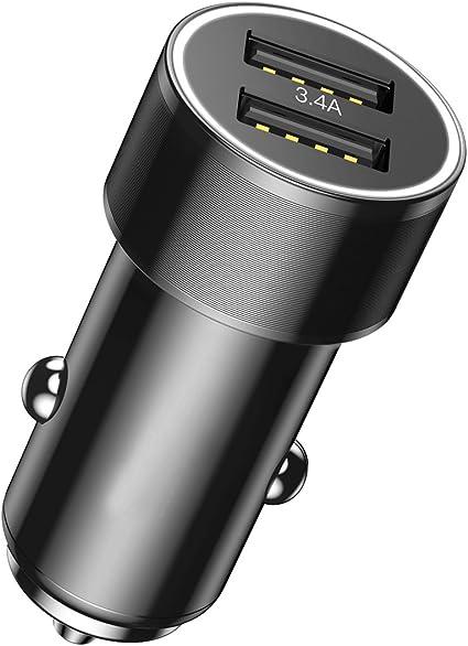 Amazon.com: Cargador de coche con adaptador USB para ...