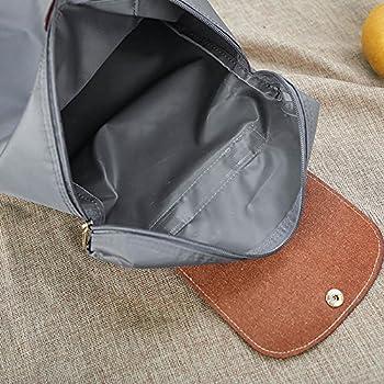 Leisure Travel Nylon Zipper Bag Student Backpack Folding Bag Shoulder Bag