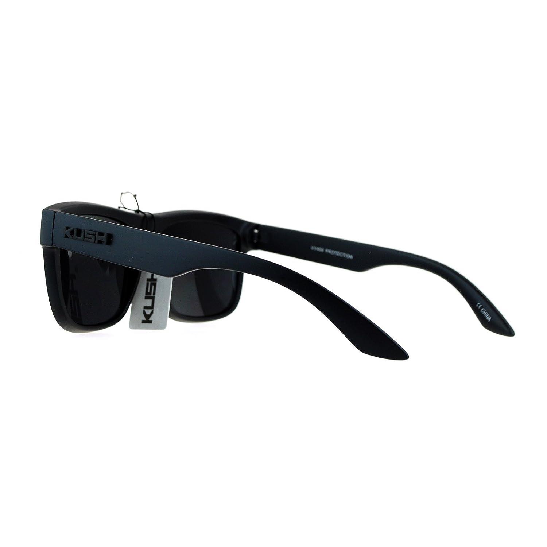 Kush Mens All Black Gangster Oversize Horn Rim Cholo Sunglasses