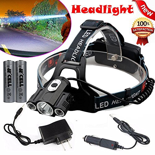 2000Lm CREE XML T6 Headlight Headlamp 3-mode torch - 2