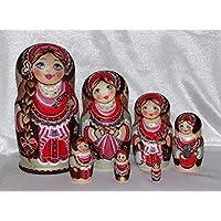 Matryoshka Muñecas de anidación 7 piezas de madera 17 cm