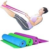 Set di 3 bande elastiche in gomma per fitness, da 150x 15cm, bande di resistenza per yoga, pilates, ginnastica riabilitativa, esercizi di fisioterapia