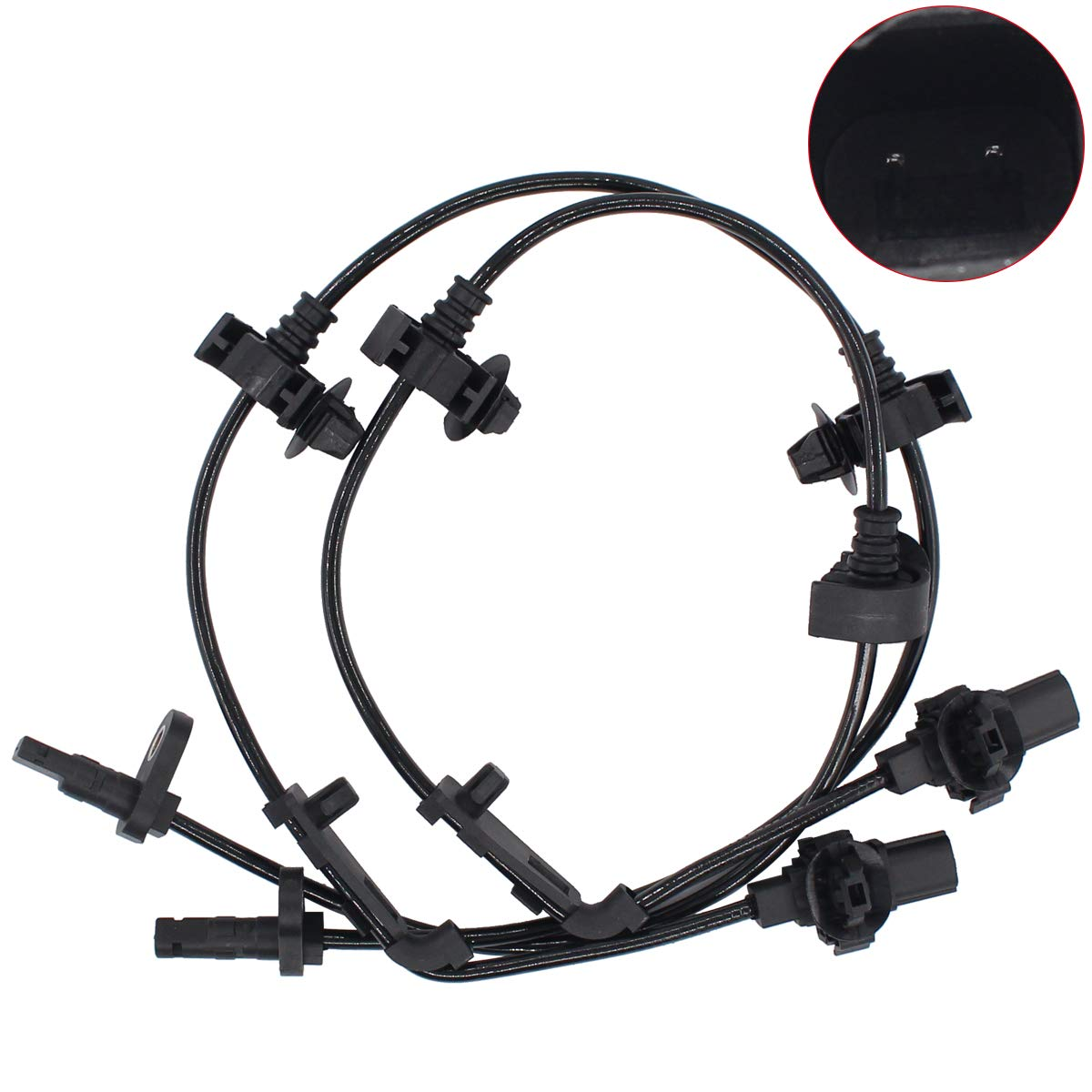 NewYall Pack of 2 Front Left Driver /& Right Passenger Side ABS Wheel Speed Sensor