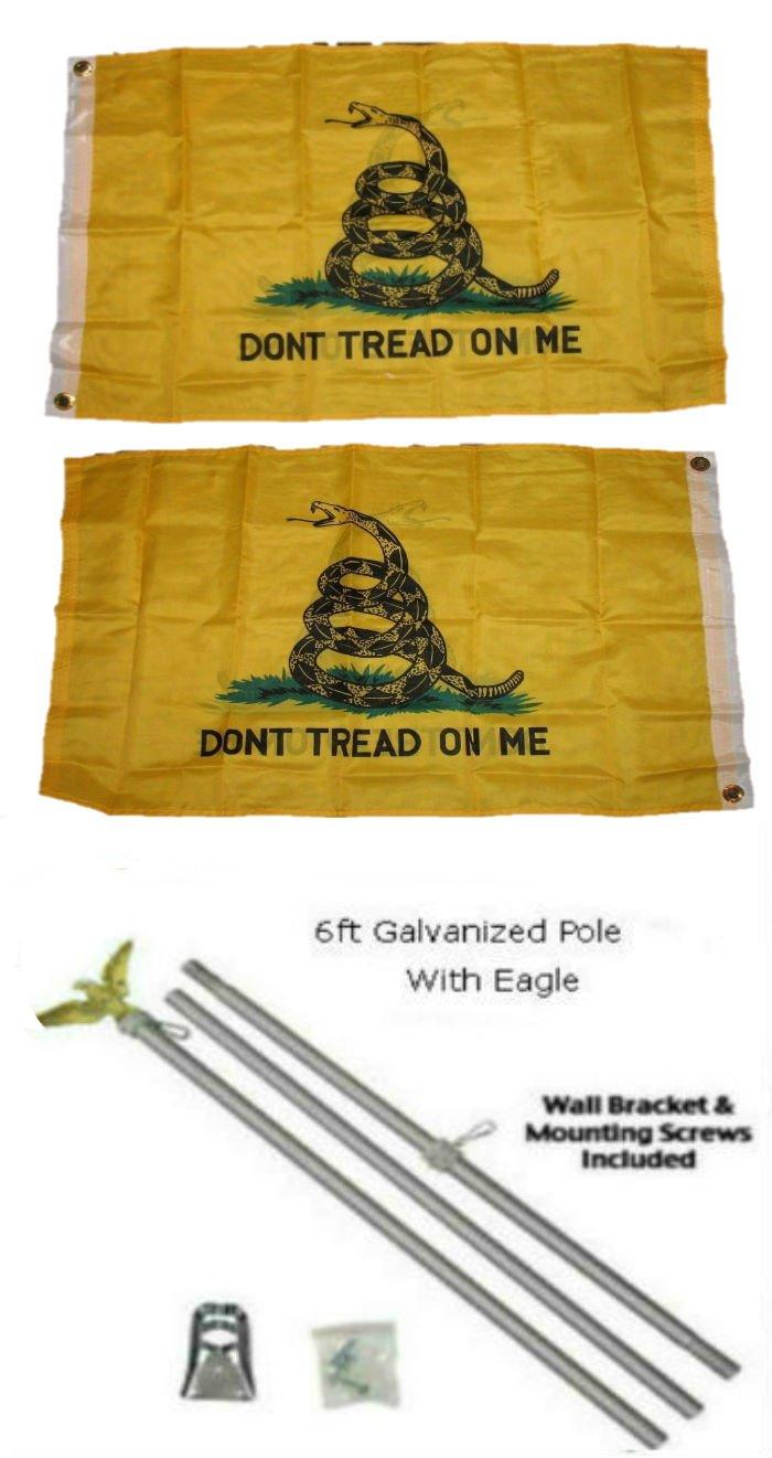 春夏新作 2 On x 3 2 Yellow ' x3 'ガズデンないTread On Me Double Yellow Snake Double Sided 2plyフラグ亜鉛メッキポールキットEagle Top B01MZ3YALG, クマヤマチョウ:ac3be020 --- hotel.officeporto.com