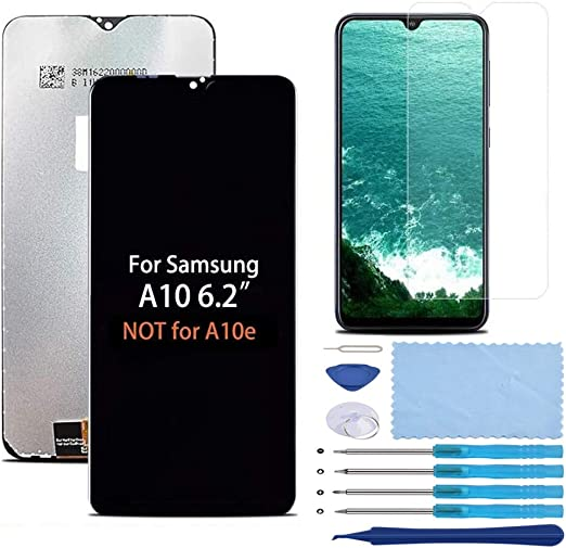 Screen Protector LCD Display Touch Digitizer Assembly Part with Tools XR MARKET Compatible Samsung Galaxy A10 Screen Replacement ONLY for A10 6.2 inch