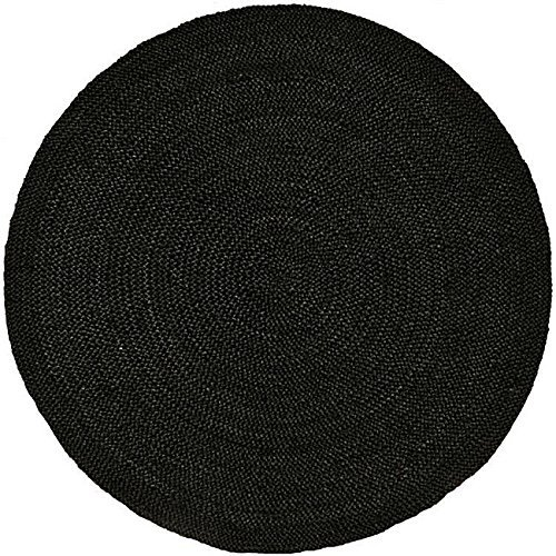 Acura Rugs Natural Jute Collection  Transitional Style Hand Woven Round Area Rug,  8' / 96