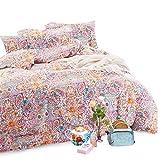 Wake In Cloud - Bohemian Duvet Cover Set Queen, 100% Soft Cotton Bedding, Boho Chic Mandala Printed, with Zipper Closure (3pcs, Queen Size)