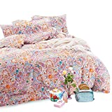 Wake In Cloud - Bohemian Duvet Cover Set, 100% Cotton Bedding, Boho Chic Mandala Printed, with Zipper Closure (3pcs, King Size)