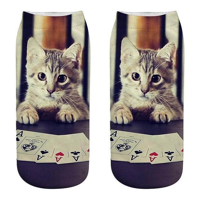 QinMM Unisexo Calcetines 3D de gato calcetines de animal para mujer hombre: Amazon.es: Ropa y accesorios