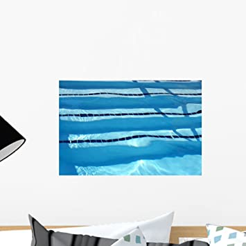 Amazon.com: Wallmonkeys Swimming Pool Lanes Wall Decal Peel and ...