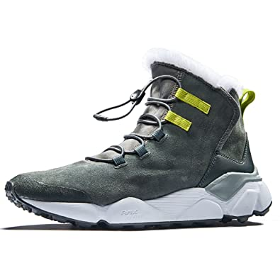8ac64c4501f RAX Men s Outdoor Anti-Slip Waterproof Snow Boot with Fur Lined Winter Warm Sneaker  Shoes