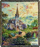 Manual Inspirational Collection Tapestry Throw, Holy Holy Holy, 50 X 60-Inch