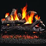 Peterson Real Fyre 24-inch Coastal Driftwood Log Set With Vented Natural Gas G45 Burner - Match Light