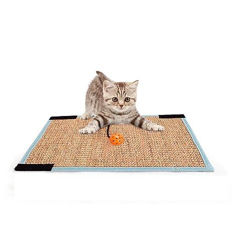 laamei Alfombrillas Rascadoras Sisal Scratcher de Gatos, Alfombrilla Antideslizante para Raspar Mascotas Protectores de Arañazos