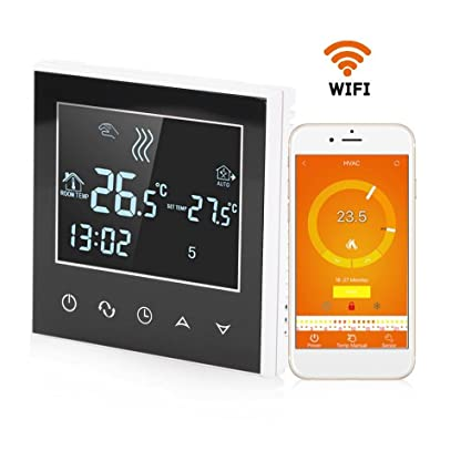Programmable Wireless WiFi App Control Temperature Controller Heating Thermostat Digital LCD Touch Screen