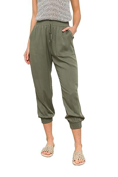 Amazon.com: HEM AND THREAD - Pantalones de yoga para mujer ...