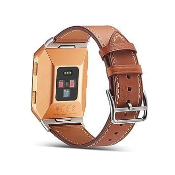 Bracelet de montre Fitbit Ionic en cuir, courroies de montre de rechange Fitbit Ionic bracelet