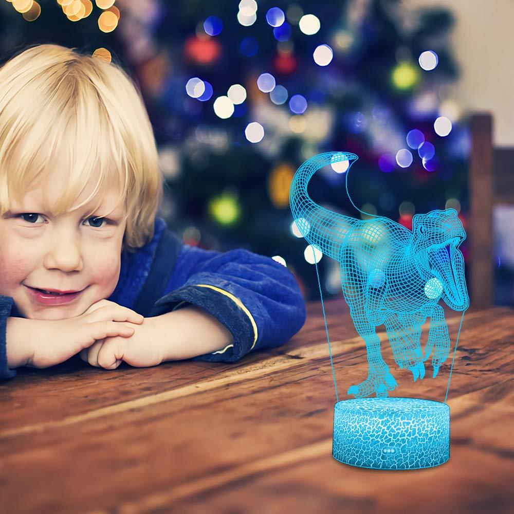 QiLiTd LED Lampe 7 couleur Lumi/ère Dimmable Tactile Interrupteur USB//Batterie Ins/érer Decoration Anniversaire Cadeau No/ël Pour B/éb/é Enfant Ado Femme Homme Licorne 3D Lampes avec T/él/écommande