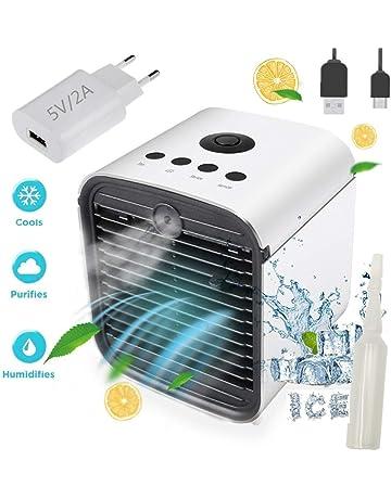 Nifogo Air Mini Cooler Aire Acondicionado Portátil - 3 en 1 Climatizador Evaporativo Frio Ventilador Humidificador