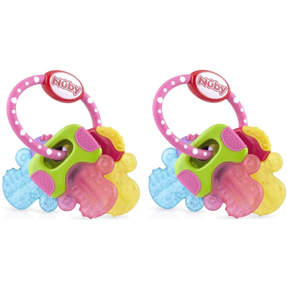 Ice Bite Teether Keys Baby Teething Gel Toy Toddler 6A