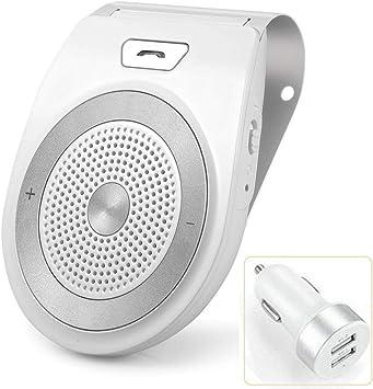 Aigital Manos Libres para Coche Kit Bluetooth Altavoz Inalámbrico con Siri y Asistente Google Auto Encendido Apagado Soporta GPS, Música, Llamadas, Conectividad de Doble Enlace Reducción de Eco: Amazon.es: Electrónica