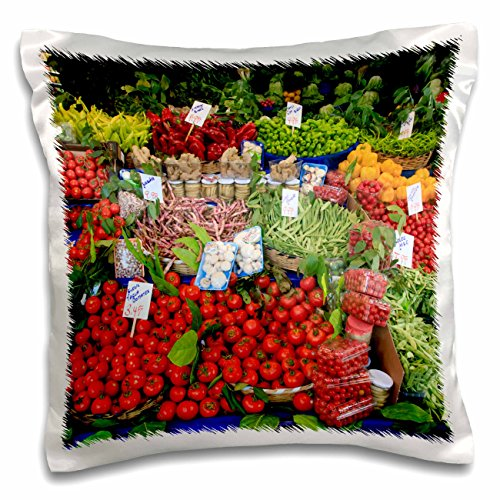 Istanbul Turkey Food - 3dRose Danita Delimont - Food - Turkey, Istanbul, Street market featuring a variety of fresh produce - 16x16 inch Pillow Case (pc_276990_1)